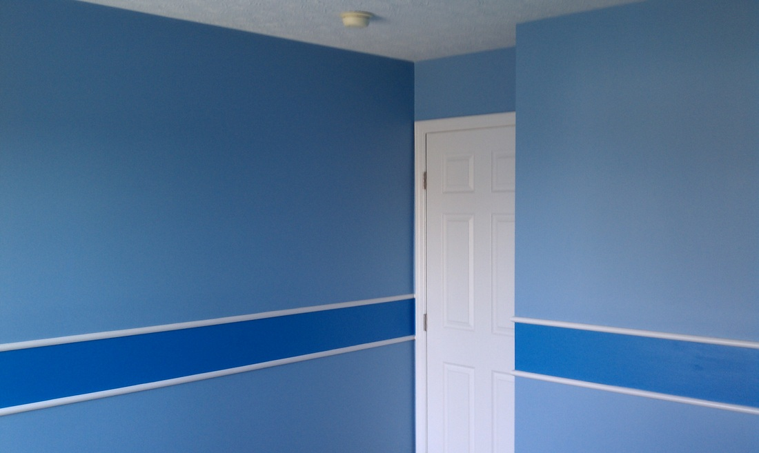 Professional Wall Stripe Painter House Custom Stripes Painted Home Painting